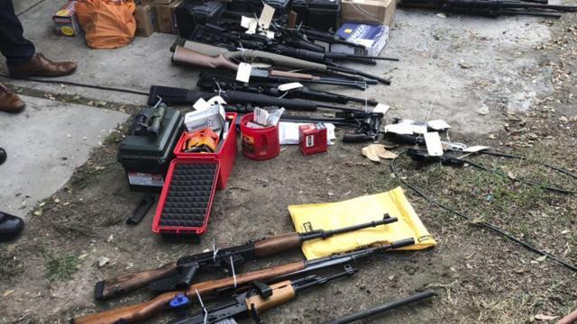 Police Find 50 Guns Nazi Propaganda And 200 Doves At Mans Home