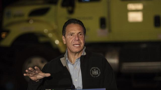 FILE -- Gov. Andrew Cuomo speaks at a news conference before inspecting train tunnels between New York and New Jersey, in New York, Oct. 17, 2018. On Nov. 28, President Donald Trump and Cuomo were expected to meet for a second time to discuss New York's most pressing infrastructure problem — the urgent need for a new train tunnel under the Hudson River. (Victor J. Blue/The New York Times)