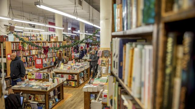 FILE -- Inside the Strand Bookstore in New York, Nov. 30, 2016. The beloved independent shop with 18 miles of books says that landmark status for its building could be a death blow. (Tony Cenicola/The New York Times)
