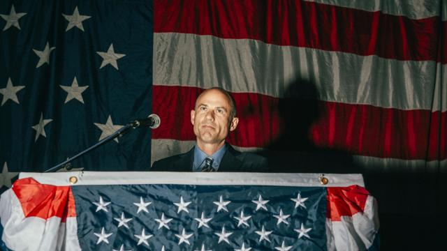 FILE — Michael Avenatti, the hard-charging lawyer for Stormy Daniels, speaks at a Democratic dinner in Clear Lake, Iowa, Aug. 10, 2018. Avenatti, cable-news fixture as a vocal critic of President Donald Trump, announced on Dec. 4 that he would not be running for president in 2020, citing his family's concerns. (George Etheredge/The New York Times)