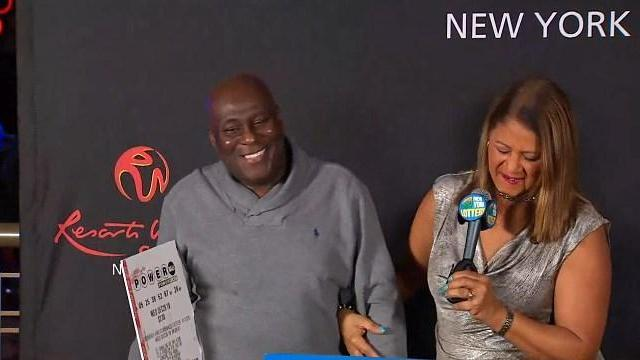 Dave Johnson, a Brooklyn-based truck driver, is the sole winner of the near $300 milllion Powerball jackpot. (Photo: WNBC-TV)