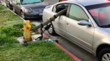IMAGE: Firefighters: This is why you should never park in front of a fire hydrant
