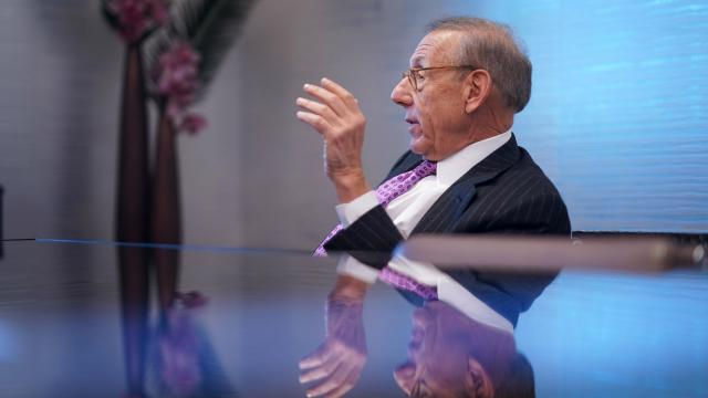Stephen Ross at his office in Hudson Yards, New York, Feb. 14 2019. Progressives looking for a way to express their anger at President Donald Trump — and the people who support him — have threatened to boycott SoulCycle, the popular spin studio chain, and Equinox, a high-end gym, both owned by Steven Ross, who is scheduled to host the president at his Southampton home in August 2019. (Chang W. Lee/The New York Times)