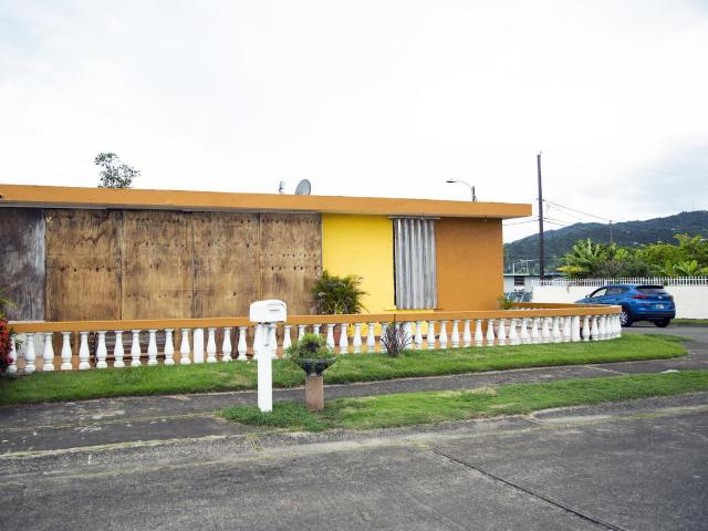 A boarded-up home in Maunabo, Puerto Rico, as Tropical Storm Dorian approaches on Wednesday, Aug. 28, 2019. The storm is expected to slam into the Virgin Islands and northeastern Puerto Rico on Wednesday. (Erika P. Rodriguez/The New York Times)