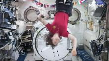 IMAGE: NC State's Christina Koch in space station will be over Raleigh tonight