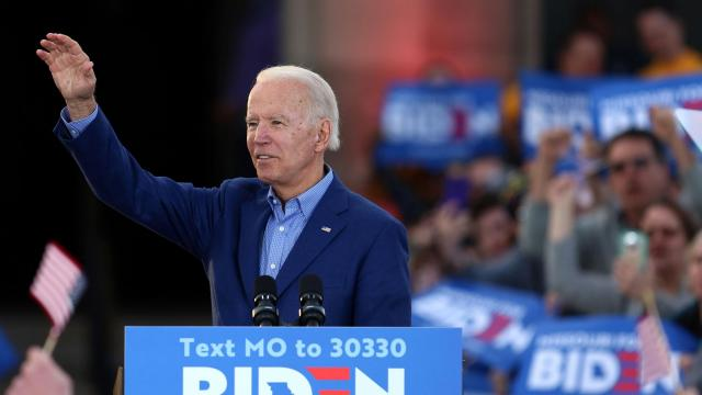 FILE -- Former Vice President Joe Biden speaks during a get out the vote event at the National WWI Museum and Memorial in Kansas City, Saturday, March 7, 2020. His allies remain enthusiastic about his promise of a female vice-presidential candidate, despite growing Democratic fixation on Gov. Andrew Cuomo of New York as he commands loyal audiences for his daily briefings on the coronavirus. (Christopher Smith/The New York Times)