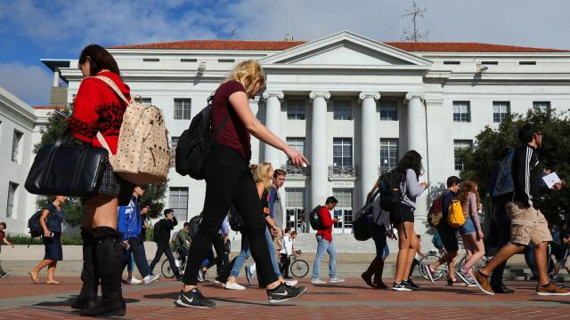 FILE -- Students at the University of California, Berkeley, on Sept. 21, 2017. In a debate with major implications for the future of standardized testing, leaders at the University of California are expected to decide Thursday, March21, 2020, whether to effectively eliminate the SAT and ACT as requirements for admission at the system's 10 schools, which are some of the most popular in the country. (Jim Wilson/The New York Times)