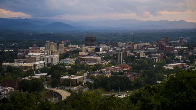 FILE -- Downtown Asheville, N.C., on Sept. 29, 2016. The city council approved reparations for Black resident on Tuesday, July 14, 2020, that would provide funding to promote homeownership and business opportunities, but stopped short of stipulating direct payments. (Susannah Kay/The New York Times)