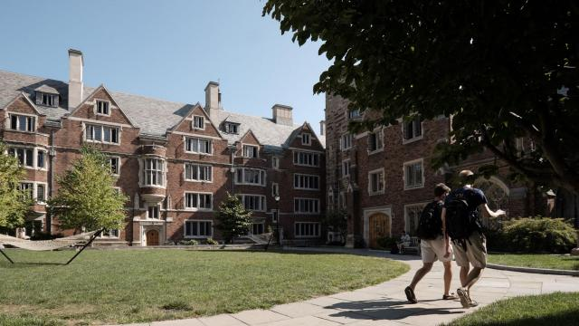 FILE -- The Yale University campus in New Haven, Conn., Sept. 9, 2015. In a major escalation of the Trump administration's effort to challenge race-based admissions policies at elite universities, the Justice Department on Thursday, Aug. 13, 2020, accused Yale University of discriminating against Asian-American and white applicants, violating civil rights law. (Andrew Sullivan/The New York Times)