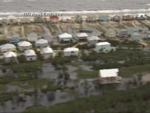 Raw: Flyover of the Gulf Coast shows flooding