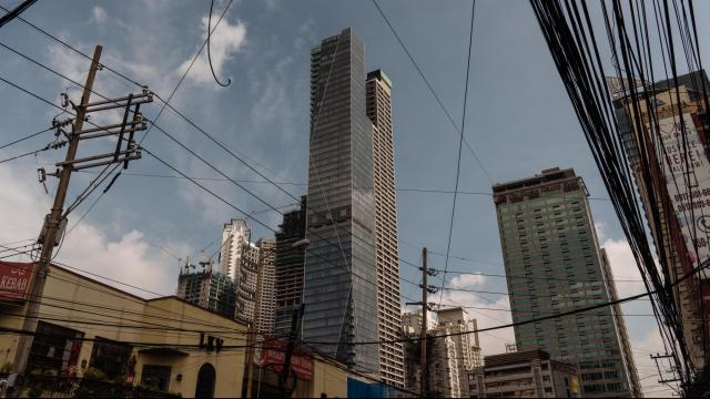 The Trump Tower Manila, which Donald Trump licensed his name to, in Manila, Philippines, Sept. 24, 2020. In 2017, Trump or his companies paid $156,824 in taxes in the Philippines. The New York Times Times obtained Donald Trump's tax information extending over more than two decades, revealing struggling properties, vast write-offs, an audit battle and hundreds of millions in debt coming due. (Hannah Reyes Morales/The New York Times)