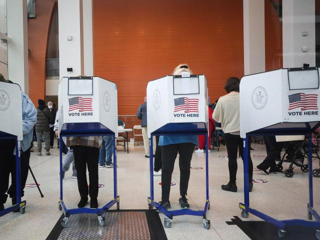 Voters cast their ballots during early voting in Brooklyn on Oct. 27, 2020. In the final days of voting, election officials and cybersecurity experts are keeping a close eye on a range of possible ways foreign governments and other hackers could interfere. (Earl Wilson/The New York Times)