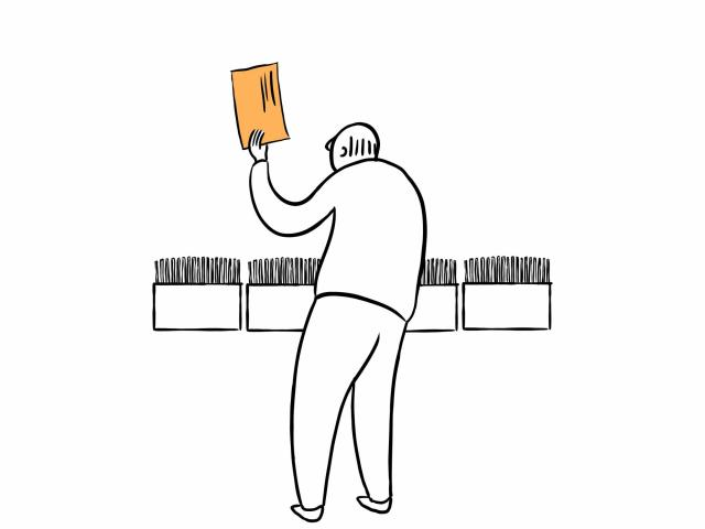 Tens of millions of people are voting by mail this year, and counting each ballot involves numerous steps, many of them done by hand. Image 6 of 12. (The New York Times)