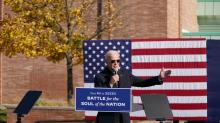 IMAGES: NBC/WSJ poll: Biden leads Trump by 10 points, contest closer in top battleground states