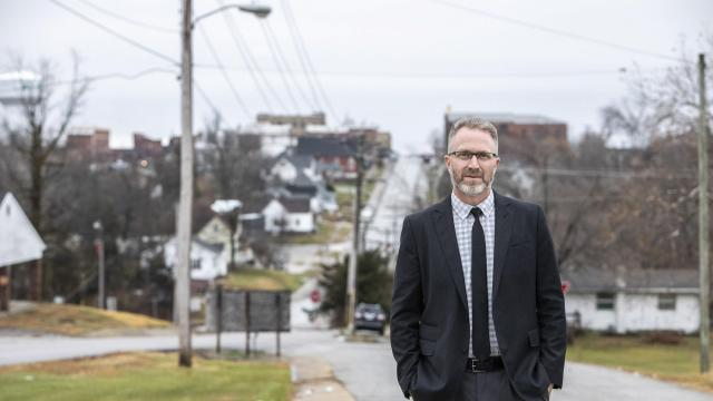 Tony Keene, the chief executive of a small rural hospital where a quarter of staff, himself included, have come down with the coronavirus, in Milan, Mo., Nov. 24, 2020. As the coronavirus pandemic surges across the country, hospitals are short of beds and staff members to provide adequate care for every patient. (Kathryn Gamble/The New York Times)
