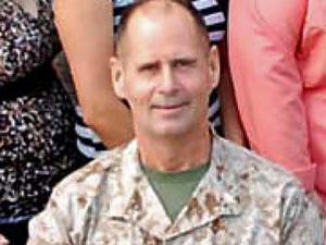 Licensed clinical social worker Cmdr. Charles Keith Springle died May 11 from a non-combat related incident at Camp Liberty, Iraq. (U.S. Marine Corps photo/Released)