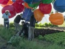 Balloon man crosses English Channel