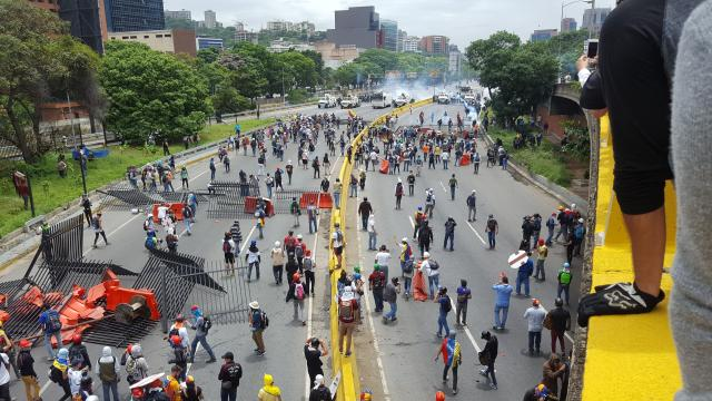 Protests clash in Caracas, Venezuela over President Nicolas Maduroi calling for a Constituent National Assembly.
