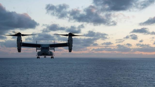 """The crew of the U.S.S. Bonhomme Richard, which is the ship that the MV-22 Osprey took off from, on their Facebook page of their mission off the Australian coast. The Ospreys were involved in the exercises off the Australian coast which resulted in the """"mishap."""""""