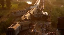 IMAGE: Train collision in Egypt leaves dozens dead