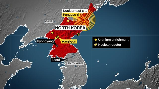 The US Geological Survey says a magnitude 3.5 earthquake struck near the nuclear site Punggye-ri in North Korea. It's unclear whether a nuclear test caused the seismic activity.