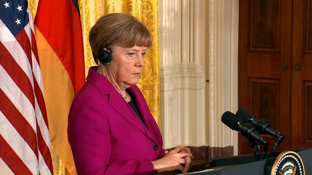 Angela Merkel has won a fourth term as German Chancellor, but with her party's lead in parliament cut and the country facing a surge in support for the far right. (FILE)