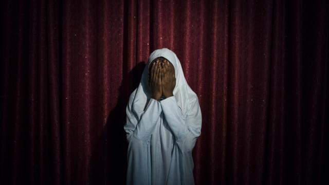 """FILE -- Maryam, 16, who refused to carry out a suicide bombing for Boko Haram, in Maiduguri, Nigeria, Sept. 21, 2017. Suicide bombings carried out by children have become so familiar in Nigeria that there are billboards warning about it. The girls are kidnapped, strapped with bombs, sent into crowds. Some find a way out. """"I really didn't expect to survive,"""" Maryam said. """"I thought I had only minutes to live."""" (Adam Ferguson/The New York Times)"""