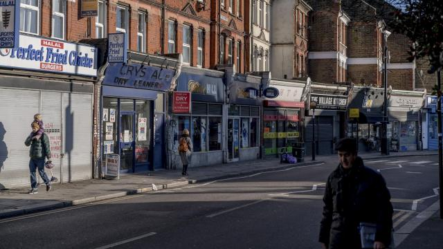 West Green Road in the Tottenham district of London, Dec. 16, 2017. Tottenham, a diverse but deprived neighborhood, is undergoing a radical transformation that some residents disparagingly call gentrification. (Andrew Testa/The New York Times)