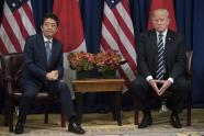 IMAGE: 'Is This Still a Buddy Movie?' Trump and Japan's Leader Will Soon Find Out