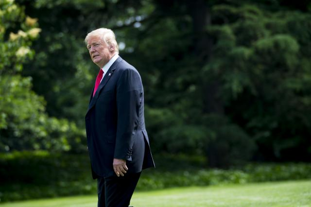 FILE -- President Donald Trump outside the White House, in Washington, May 29, 2018. Trump criticized Canadian tariffs on U.S. goods ahead of a Group of 7 summit meeting with the leaders of Canada, Britain, France, Germany, Italy and Japan. (Doug Mills/The New York Times)