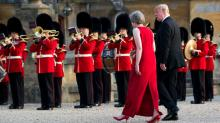 IMAGE: With May's Government Teetering, Trump Gives It a Shove