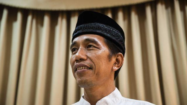 FILE -- Joko Widodo, who went on to win the Indonesian presidential election, in Jakarta, Indonesia, July 18, 2014. On Aug. 10, 2018, President Widodo and his 2014 opponent, the former army general Prabowo Subianto, both filed paperwork declaring their intent to run in the election next April. (Kemal Jufri/The New York Times)