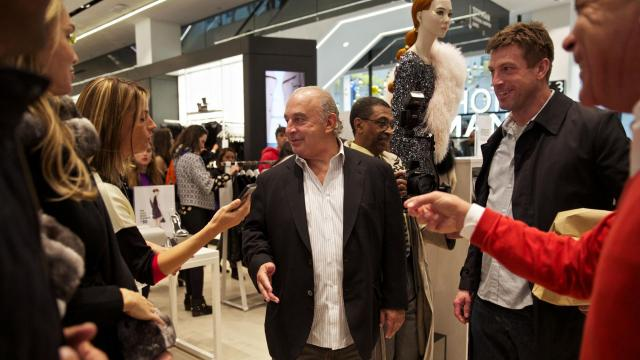 FILE — Sir Philip Green at the opening of a new Topshop/Topman store in New York, Nov. 5, 2014. Green used non-disclosure agreements to hush five former employees who had accused him sexual harassment and racist abuse, then managed to block The Telegraph from publishing a months-long investigation of those charges in October 2018. (Benjamin Norman/The New York Times)