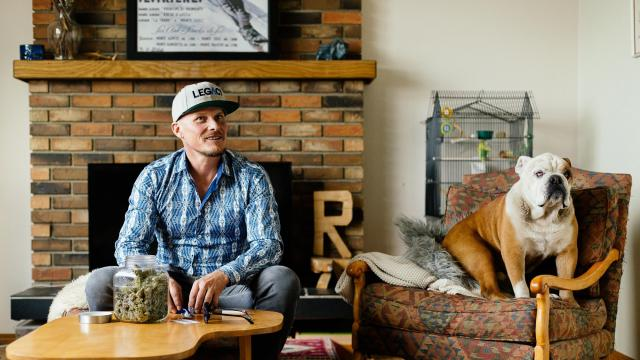 Ross Rebagliati, who was briefly stripped of a snowboarding gold medal in 1998 because of marijuana, in Kelonwa, British Columbia, Canada, Oct. 12, 2018. Rebagliati hopes that Canada's decision to legalize pot will bring him closure, business opportunities and, perhaps most importantly, vindication. (Alana Paterson/The New York Times)