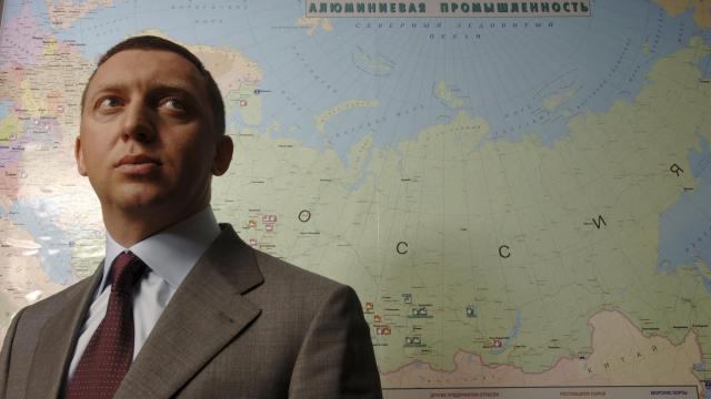 -- NO SALES -- FILE -- Oleg Deripaska, one of Russia's most infamous oligarchs, at his office in Moscow in June 2006. Deripaska has spent millions building influence in Washington and London. Now he awaits a key decision from the Trump administration. (James Hill/The New York Times)