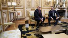 IMAGES: Trump Assails Macron and Defends Decision to Skip Cemetery Visit