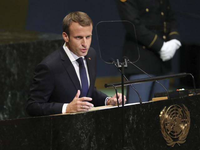"FILE -- French President Emmanuel Macron addresses the United Nations General Assembly at the U.N. headquarters in New York, Sept. 25, 2018. The ""Yellow Jackets"" movement protesting rising fuel prices is among the most serious challenges yet to Macron's pro-business government. (Chang W. Lee/The New York Times)"