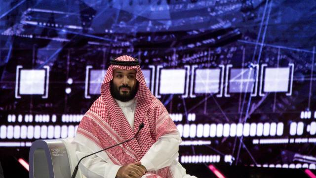 FILE -- Crown Prince Mohammed bin Salman of Saudi Arabia speaks at an investor conference in Riyadh, Oct. 24, 2018. A prosecutor in Argentina, site of the Group of 20 summit this week, is examining war crimes charges against Crown Prince Mohammed. (Tasneem Alsultan/The New York Times)