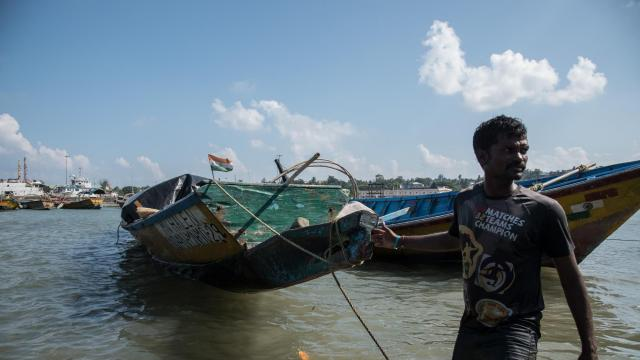 Fishermen pull in boats, including one that took John Allen Chau to North Sentinel Island, in Port Blair, on South Andaman Island in India, Nov. 28, 2018. Chau spent weeks here at an intensive, secretive missionary training camp before his ill-fated, illegal voyage -- his single-minded goal ever since he had learned of the isolated Sentinelese people during his high school years in the Pacific Northwest. (Saumya Khandelwal/The New York Times)