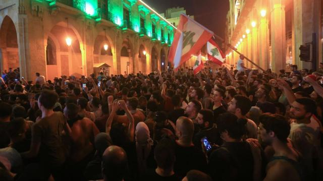 WhatsApp tax sparks night of austerity protests across Lebanon