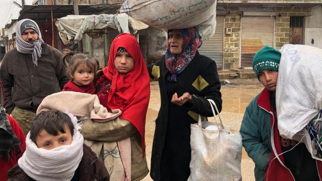 Syrians are in a desperate race to outrun a brutal regime offensive