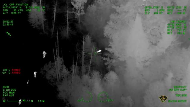 Canadian boy rescued by police using night vision from a helicopter