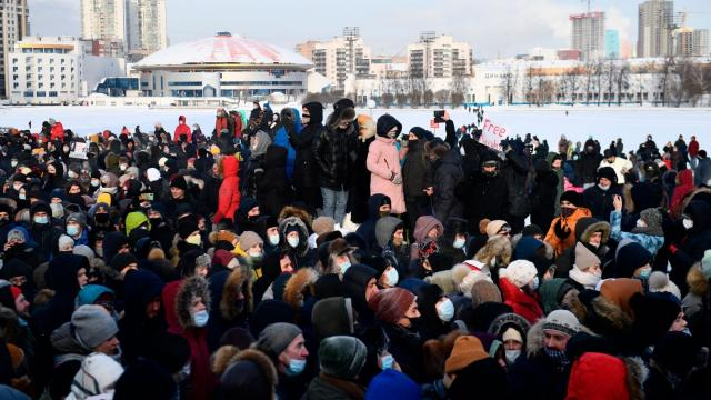 Hundreds, including Navalny's wife Yulia, detained as protests in his support sweep across Russia