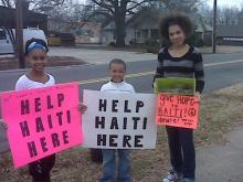 Sincerely Yours Salon in Durham gathered more than $400 in cash Saturday and donations of first aid supplies, cloth diapers, baby formula and medication to send to the victims of a recent earthquake in Haiti.