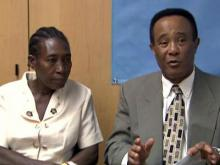 Wife of Haitian burn patient shares story