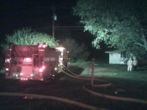 A fire destroys a home on Poole Road in Raleigh.