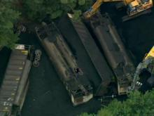 Train Carrying Coal Derails in Smithfield