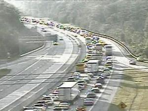 A wreck on Interstate 40 in Orange County created a traffic jam that stretched for more than 9 miles on July 13, 2007.