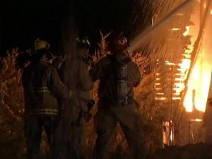 Firefighters spent about an hour Friday morning getting an abandoned-house fire under control.