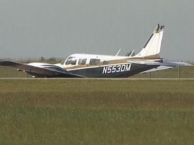 Raleigh-Durham International Airport authorities said a Piper Seneca made a belly landing Wednesday afternoon after experiencing problems with its landing gear.
